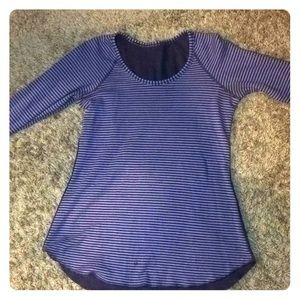 PURPLE striped LULULEMON long sleeve shirt 💜💜💜